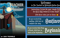 The Teacher and the Stranger interactive book